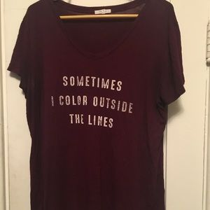 Maroon Maurice's Vneck shirt